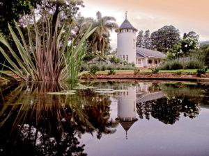 LAR Signature photo house and pond
