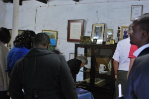 Visitors viewing the Don Grainger Room